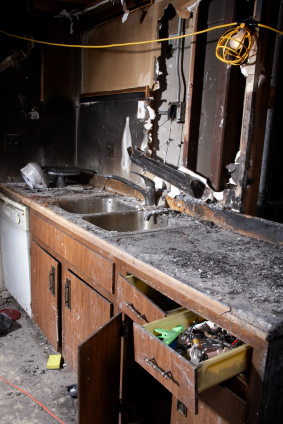 Fire and Smoke Damage to Kitchen Chicago